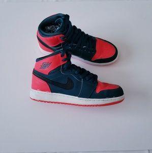 Air Jordon AJ 1 Retro High Sneakers Size 5.5Y